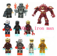Building Blocks Super Heroes The Avengers Iron Man Hulk Buster Bricks Figurines d'action Jouets Bricks Jouets pour cadeaux d'enfants Noël