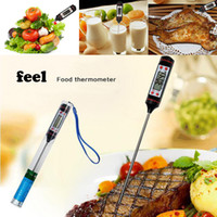 Wholesale Probe Digital Thermometer Cooking Kitchen Stainless Steel Food Meat Steak Jam Digital Cooking Thermometer Kitchen BBQ Sensor Dining Tools