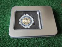 yonga kutuları toptan satış-Toptan-freeshipping golf aksesuarları hediye golf poker chip topu marker topu tee teneke kutu