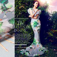 organza seda verão vestidos venda por atacado-140 cm de largura 12mm verde planta impressão cinza seda organza tecido de seda para o vestido de verão camisa roupas cheongsam d243