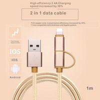 Manzanas Compatibles Con Ipad Baratos-1 línea compatible con Andrews y sistema de Apple Cord Cable de cargador para iPhone iPad iPod Touch USB 1m.