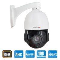 Wholesale Dome Ptz - SecuPlug+ Outdoor 1080P AHD PTZ Dome Camera with 18X Optical Zoom and 150ft Night Vision,RS485 Control and 360°Continuous Rotation(Only Work
