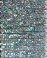 Wholesale Seashell Tiles - Natural Abalone Green Seashell Mosaic Tiles Mini Brick Kitchen or Bathroom Backsplash