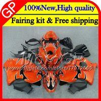 Wholesale Hayabusa Black Orange - Body For SUZUKI Orange blk Hayabusa GSXR1300 96 07 2002 2003 2004 41GP43 GSX R1300 GSXR-1300 GSXR 1300 2005 2006 2007 Motorcycle Fairing