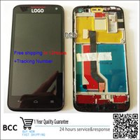 Wholesale Ascend D1 - Wholesale- 100% Original New LCD Display +touch screen digitizer with frame for Huawei Ascend D1 U9500 Completely Assembly Free Shipping