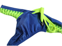 Wholesale Young Bathing Suit - sexy swimming thongs leisure swim wear Swim Trunks for Young Men bathing suit Beachwear mesh color matching sp
