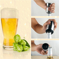 Wholesale Stainless Steel Bottle Openers - New Beer Bottle Opener Automatic Stainless Steel Beer Juice Drinking Bottle Opener Gift Bar Tool Opener Kitchen Cooking Tool