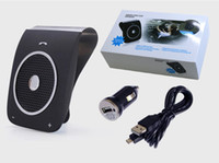 Wholesale Visor Clip Hands Free - Bluetooth In-Car Speaker phone BT18 CSR V4.0 Sun Visor Clip Hands Free Car Speaker MP3 Player Built-in DSP Function Support Voice Dialing
