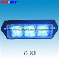 Wholesale Emergency Flashing Blue - VS-9L8-Y Super bright LED Grill Lights,Police ambulance emergency lights, Blue LED surface mount Strobe Warning Flashing Light