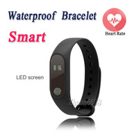 Wholesale M2 Smart Fingerprint Waterproof Bracelet Heart Rate Monitor Wristband For Android iOS Fitness Tracker Smart Bracelet Free Shippping
