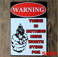 pistola de pintura de arte venda por atacado-Casa Artes De Metal 20 * 30 cm Sinal Da Lata Placa de Pintura de Metal Pintura Humor Retro Poster Uso Para O Partido Bar Ktv Casa