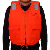 Wholesale Life Jackets Pockets - Professional Swimwear Swimming jackets Life Jacket Water Sport Survival Dedicated Life Vest with Pocket and Zipper