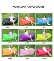 Red outdoor camp activities - Lightweight Air Sofa Sleep Bed Inflation Bag Lounger Couch Hiking Tool Inflatable Sofa for Outdoor Activities