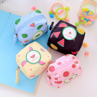 Wholesale Cute Coin Purse For Sale - Wholesale- Hot sale Cute PU Coin Purses Cartoon Lovely Waterproof Mini Storage Bags For Cardholder In-ear Headphone cute small purse 9x8cm