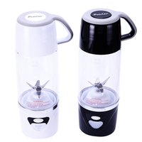 Wholesale New Hand Mixer - 7*24.4Cm New Arrival Personal Blender With Travel Cup USB Fruit Juicer Fruit Mixing Machine Electric Juice Blender Mixer Multi Colors 600Ml