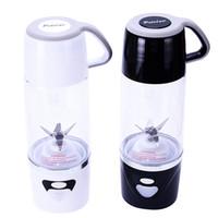 Wholesale Hand Fruit Juicer - 7*24.4Cm New Arrival Personal Blender With Travel Cup USB Fruit Juicer Fruit Mixing Machine Electric Juice Blender Mixer Multi Colors 600Ml