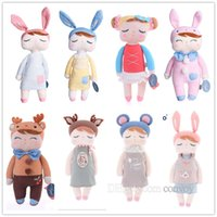 Wholesale Pp Cotton Stuffing - Metoo Plush Dolls For Baby Kids 13 Inch Angela bunny Rabbit Dolls ovely stuffed PP cotton Toys dolls girl birthday gift KMT01