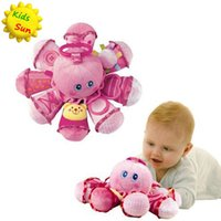 Wholesale Octopus Plush Animals - 2017 Brinquedos New Baby Toys Early Learning Plush Octopus animal rings high quality Baby Rattles & Mobiles Toy