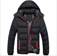 Wholesale Parka Style Jacket Men - Autumn and Winter the Best Men's Style Slim down thick cotton padded jacket Size XL-XXXL Warm Man's Parkas