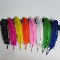 tinte de plumas blanco al por mayor-Plumas de pavo plumas pluma de pavo redondo 10-12inches / 25-30cm