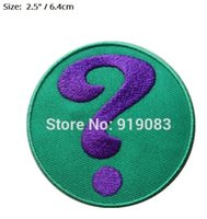 RIDDLER ENEMY SUPERHERO BATMAN BAT MAN Patches Comics TV Film Gesticktes Emblem Applikation Eisen auf Patch Halloween Cosplay Kostüm