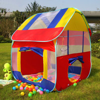 Wholesale Inflatable Houses - Wholesale- Kids Play House Tent Portable Foldable Prince Folding Tent Children Boy Castle Cubby Play House Kids Gifts Outdoor Toy Tents