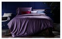 Wholesale Gold King Size Duvet Cover - Deep Purple Bedding sets 100% Egyptian Cotton sheets bed in a bag sheet linen King Queen size duvet cover quilt bedspread 4PCS