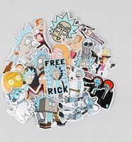 Wholesale Bicycle Decal Stickers - 35pcs set American drama rick and morty funny sticker decal for car laptop bicycle motorcycle notebook waterproof stickers