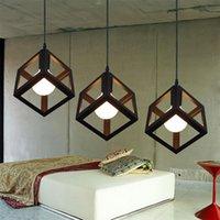 Wholesale Cheap Incandescent Light Bulbs - 2017 NEW Arrivals Cube Chandelier Light Living Room Cube Chandelier Light Office Restaurant Very Cheap Portable Lanterns