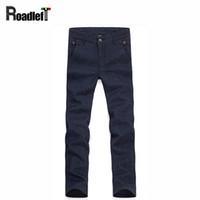 Wholesale Cotton Trouser Fabric - Wholesale- Men's clothing cotton and linen fabrics straight casual pants Men stretch slim dress trousers pants