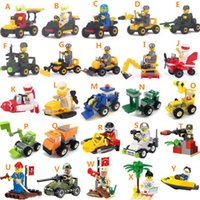 Wholesale Truck Brick Toy - Building bricks children's puzzle toys engineering trucks Building Blocks Sets DIY Bricks Toys with package box 25 styles for a lot
