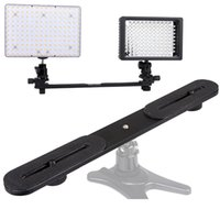 Wholesale Hot Shoe Dual - Universal Double End Light Stand Holder Dual Flash Bracket Hot Shoe Bracket Mount Tripod W  Two Screws for Digital DSLR Camera