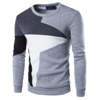 Wholesale Sweatshirt Chinese - 2017 New Autumn Fashion Brand Casual Sweatshirt O-Neck Patchwork Slim Fit Knitting Mens Hoodies And Pullovers Men Pullover 9238