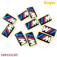Wholesale Car Bmw M5 - Car Stickers for Bmw M M3 M5 M6 Personality Labels Auto Decorations Accessories Car Plastic Drop Sticker Car Styling 10pcs Lot