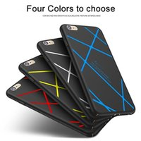 Wholesale stripe iphone hard case online - For Apple iPhone S Plus Plus Case Luxury Stripe Line Hard Frosted PC Back Cover Full Protection Covers Shell