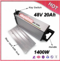 Wholesale Electric Bike Kits Battery - 48v 20ah ebike lithium battery lithium ion bicycle 48v electric battery for kit electric bike 1000w with BMS , Charger