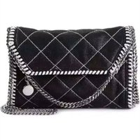 black quilted chain strap bag - Luxury stella falabella MC Shaggy Deer black with sliver strap Quilted crossbody cover shoulder bag luxury flap bag