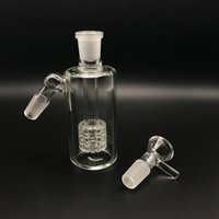 Wholesale 14mm ash catcher percolator for sale - 14mm mm Glass Ash Catchers With Glass Bowls Degrees Ashcatcher Ash Catcher Tire Percolators For Glass Water Bongs Oil Dab Rigs