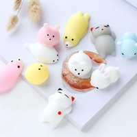 Wholesale New Cartoon Cat - Squishy Slow Rising Jumbo Toy Bun Toys Animals Cute Kawaii Squeeze Cartoon Toy Mini Squishies Cat Squishiy Fashion Rare Animal Gifts New