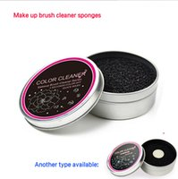 1000 sponge eyeshadow brush - Black Sponge Box Natural Makeup Brushes Dry Cleaner Tool Professional Color Switch Remover Eyeshadow Makeup Brushes Color Removal Cleaner