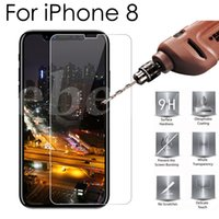 Wholesale Top Iphone Screen Protectors - For iPhone 8 Top Quality Tempered Glass Screen Protector 0.2MM 2.5D Anti Explosion Film Free DHL with Retail Package