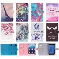 Wholesale Magnetic Case Android - Wholesale- Universal 10 Inch Tablet Case Print Pattern Wallet Magnetic Buckle Flip Stand Protective Cover Case For Android iPad Asus Tablet