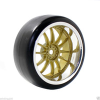 Wholesale Rc Car Rims Drift - RC HSP 9003-6015 Hard Drift Tires & Plastic Wheel Rim For 1:10 On-Road Drift Car