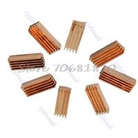 Wholesale Computers Ram Memory Wholesale - Wholesale- New 8Pcs Copper Heat Sink Heatsinks Cooler For PC Computer DDR DDR2 Memory RAM #R179T#Drop Shipping