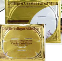 Wholesale Wholesale Gold Masks - Gold Bio-Collagen Facial Mask Face Mask Crystal Gold Powder Collagen Facial Masks Moisturizing Anti-aging beauty products in stock