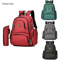 Wholesale mummy bag multifunction resale online - Fashion Maternity Mummy Bag Multifunction Large Capacity Backpack Baby Nappy Bag Insulation Stroller Bag Diaper Outdoor Need