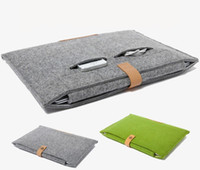 Wholesale Ipad Leather Bags - leather Felt Shockproof notebook Liner bag for Macbook ipad air pro 11 13 15 inch laptop bag protective sleeve tablet cases GSZ220