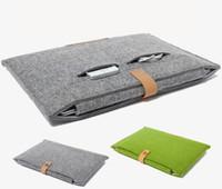 sacs à comprimés de 11 pouces achat en gros de-Sac en cuir pour ordinateur portable Felt Shockproof pour Macbook ipad air pro 11 13 15 17 pouces sacoche pour ordinateur portable manchon protecteur étuis pour tablette GSZ220