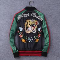 Wholesale Designer Brand Jackets - 2017 autumn men's embroidery jackets brand designer jackets luxury jackets men's outwear large size XL 2XL 3XL