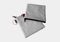 Wholesale Canvas Bags Colour - 300Pcs lot Cream-coloured cotton canvas small Square coin purse DIY unisex blank plain cotton small bags red zipper casual wallets key cases